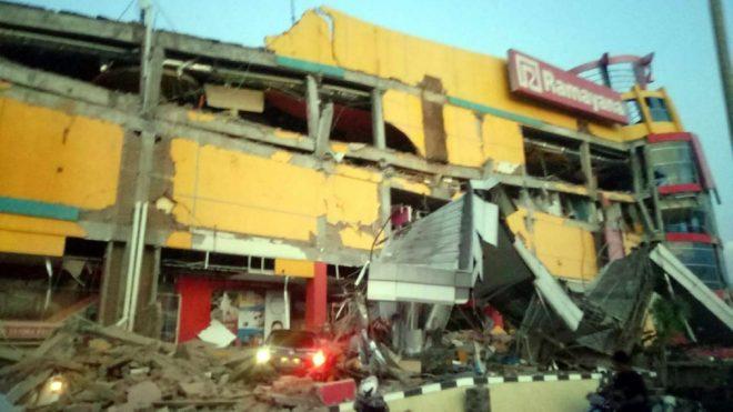 Bölgede çok sayıda bina hasar gördü.