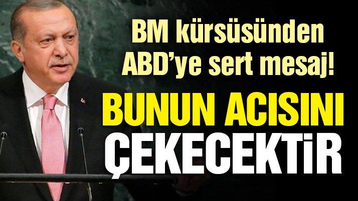 Son dakika! Erdoğan'dan ABD'ye sert sözler: Bunun acısını çekecektir!