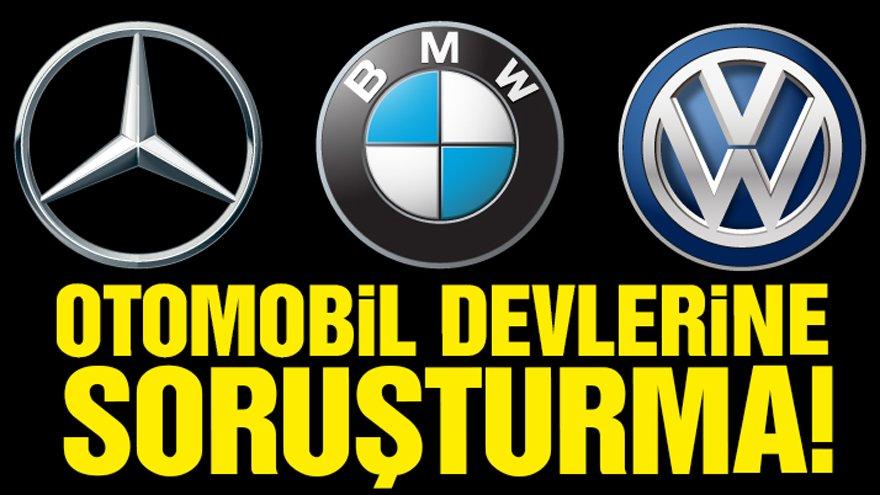 AB'den otomobil üreticilerine emisyon soruşturması Avrupa Birliği (AB) Komisyonu, benzinli ve dizel araçlara yönelik temiz emisyon teknolojileri geliştirilmesini engelledikleri şüphesiyle BMW, Daimler ve VW (Volkswagen, Audi, Porsche) şirketleri hakkında soruşturma başlatma kararı aldı.