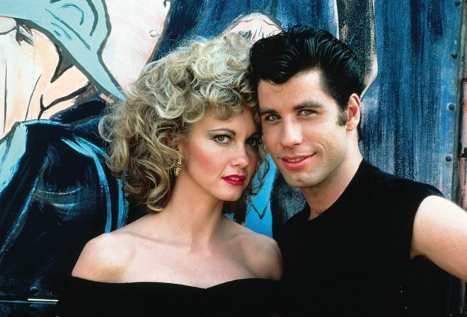 Olivia Newton-John ve John Travolta 1978 yapımı Grease filminde.