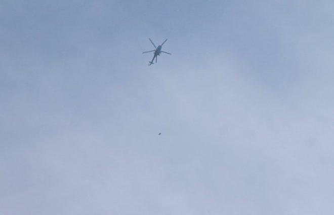 Suriye ordusunun helikopterleri böyle görüntülendi.