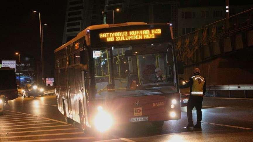 Erguvan otobüsleri İBB'den zammı kaptı