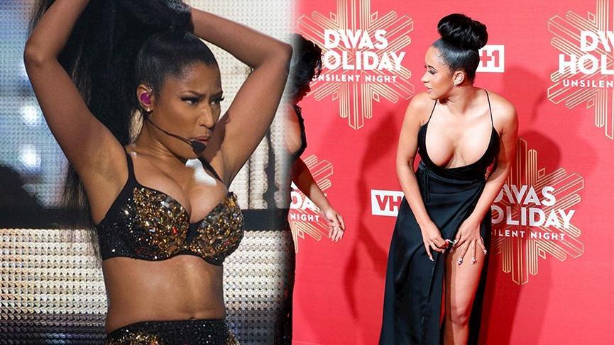 Cardi B ve Nicki Minaj partide birbirine girdi