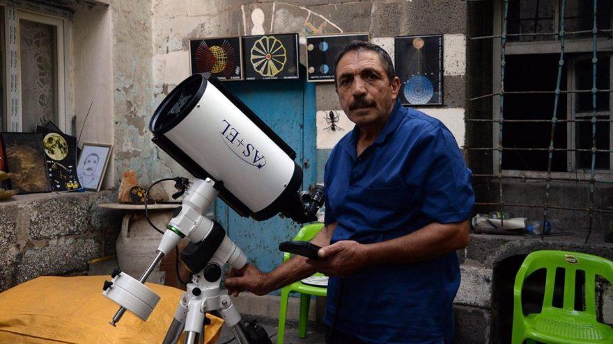 Diyarbakır'ın astronumu Abdulkadir Topkaç teleskobuna kavuştu