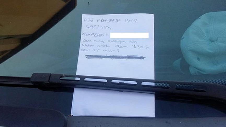 Isparta'da kaza sonrası araca abi diye not bırakmıştı araç sahibi kadın çıktı