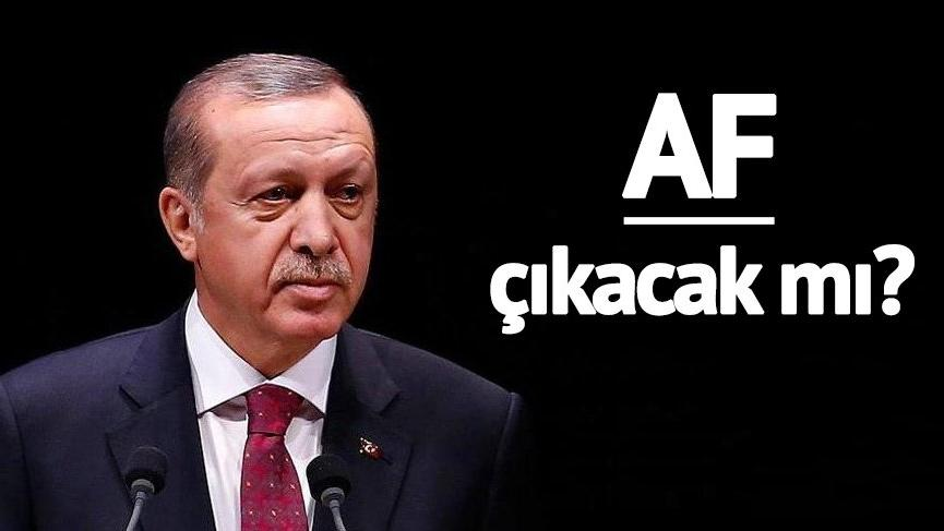 Af çıkacak mı? Erdoğan af hakkında ne dedi? Af çıkacak mı?