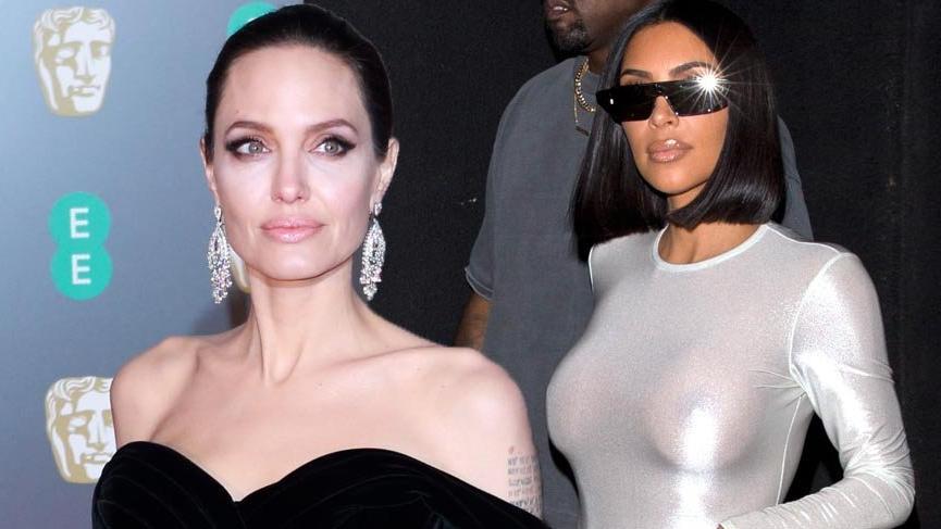 Angelina Jolie ve Kim Kardashian'ın gençlik halleri şaşırttı