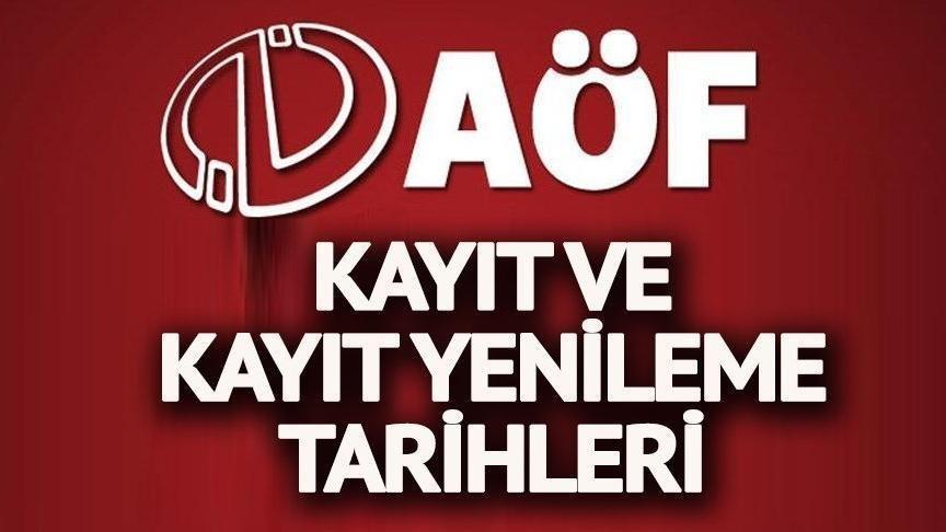 2018 AÖF kayıtları devam ediyor… İşte Anadolu Üniversitesi AÖF yeni kayıt ve kayıt yenileme tarihleri