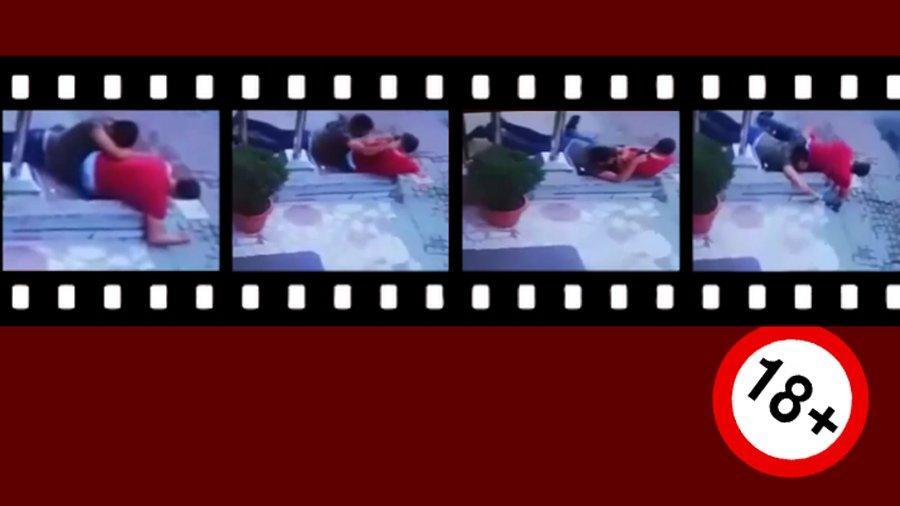 Polisle astsubay arasındaki silahlı kavga kamerada