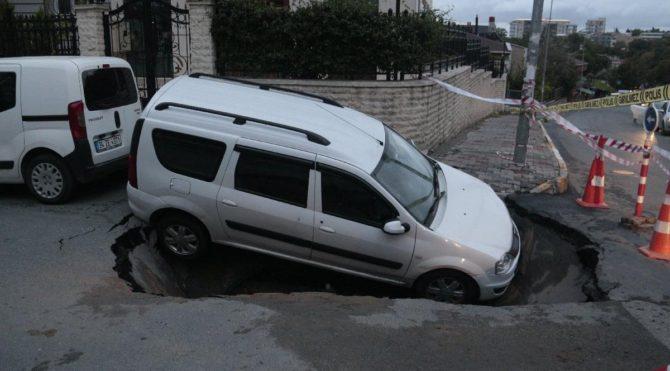 Park ettiği arabasını böyle buldu!
