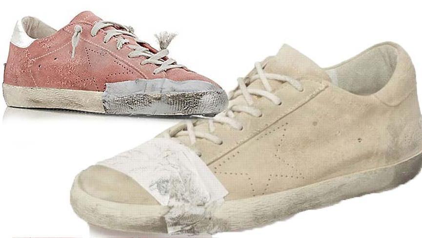Eski, yırtık ve yıpranmış görünümlü ayakkabılar fakirlikle dalga mı geçiyor?
