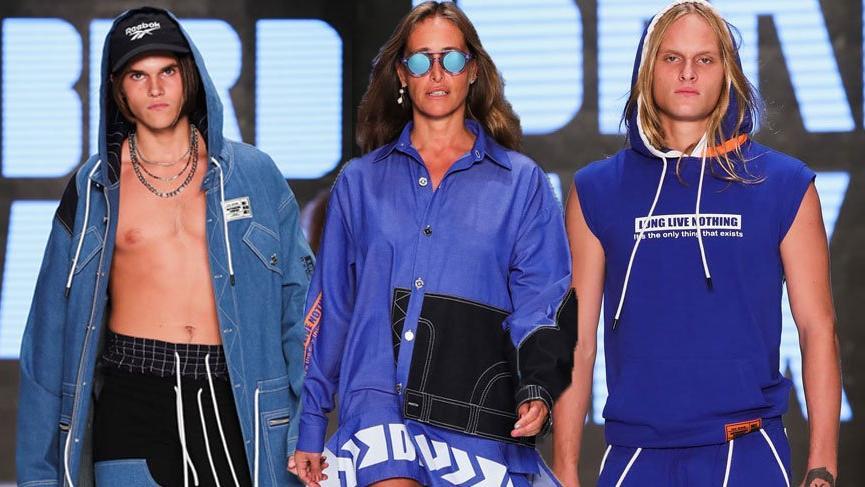 Bennu Gerede ve oğulları Mercedes Benz Fashion Week Istanbul'da podyuma çıktı