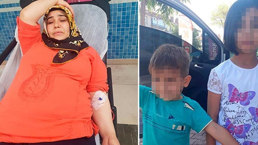 5 aylık hamile kadını darp edip, çocuklarını alıp kaçtı