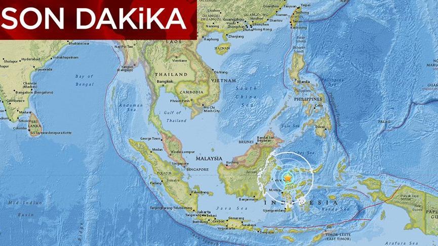 Endonezya´da 7.7 büyüklüğünde deprem