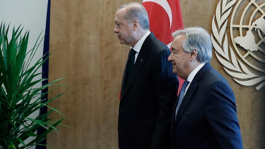 Erdoğan, BM Genel Sekreteri ile görüştü! Gündem Suriye'deki çatışmasızlık