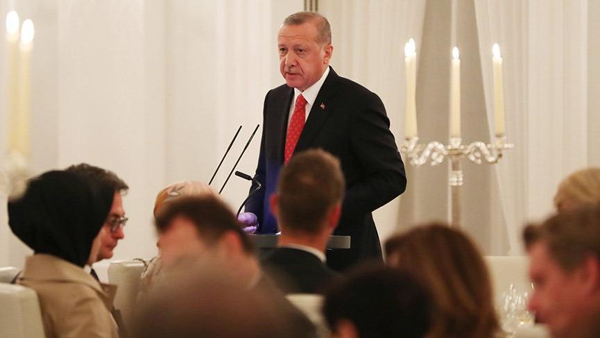 Erdoğan Almanca konuştu