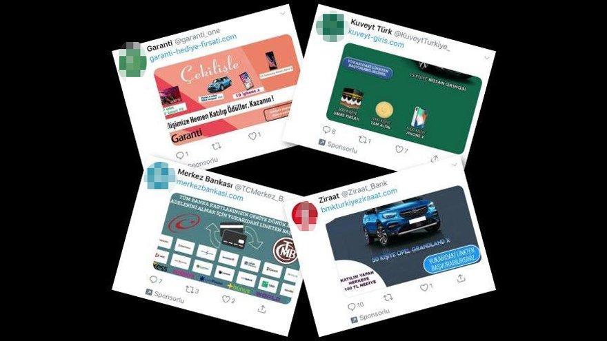 Twitter banka dolandırıcılarının ilanlarını 'sponsorlu' çıkıyor
