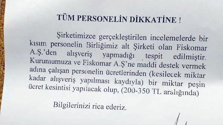 FİSKOBİRLİK'ten skandal uygulama