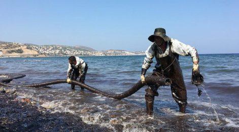 Foça'yı kirleten o gemi bulundu! İşte kesilen ceza tutarı