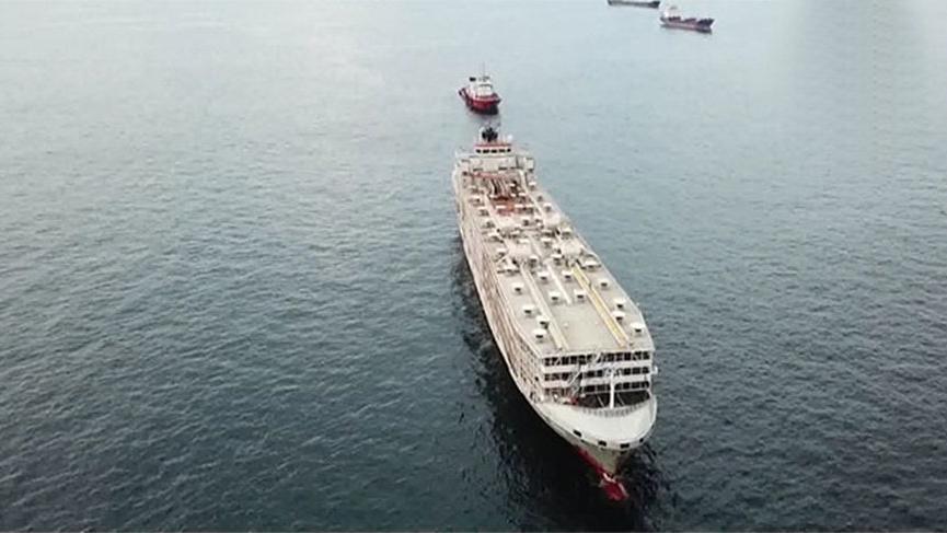 Şarbon iddialarıyla gündeme gelen gemi Türkiye'den ayrılıyor