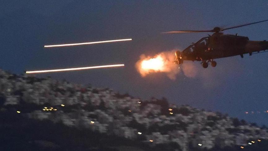 Üs bölgelerine saldırı hazırlığındaki teröristlere hava harekatı