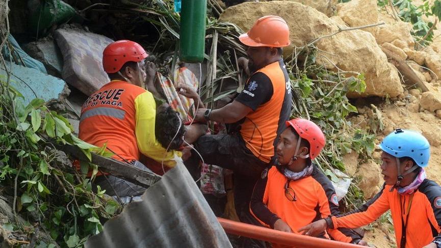 Filipinler felaketi yaşıyor! Heyelan sonucu 21 kişi öldü