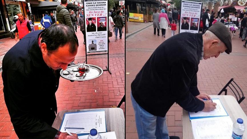 'İzmir'e Castro'nun heykeli dikilsin'