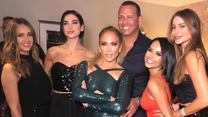 Jennifer Lopez'in kulisini ünlüler bastı!