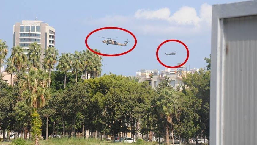 İskenderun'da askeri helikopter hareketliliği
