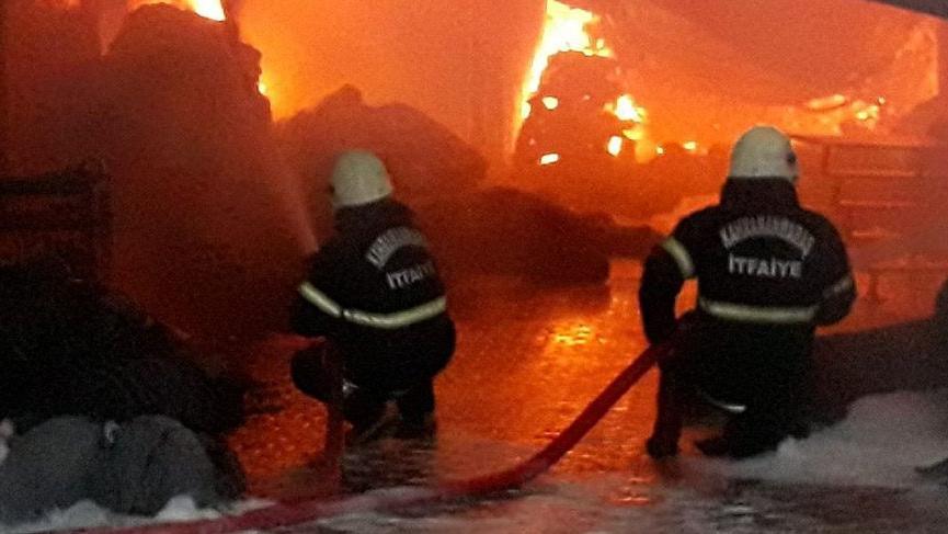 Kahramanmaraş'ta fabrika yangını! Bazı işçiler hastaneye kaldırıldı