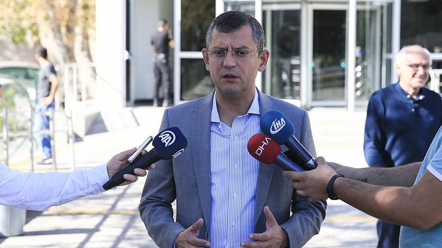 """CHP Grup Başkanvekili Özel """"tanık"""" sıfatıyla ifade verdi"""