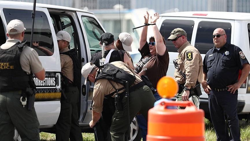 Chicago polisinden göstericilere müdahale