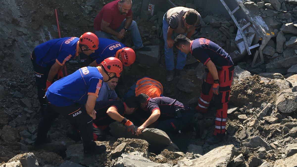 Bartın'da devlet hastanesi inşaatında göçük: 1 işçi öldü