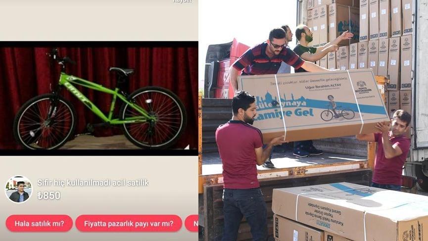 Namaz kılıp alınan bisikletler satılığa çıkarıldı