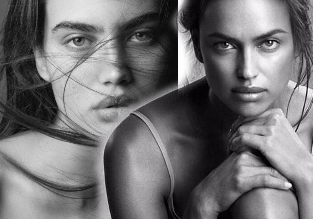 Alana, Irina Shayk'ın (sağda) gençliğine de benzetiliyor...