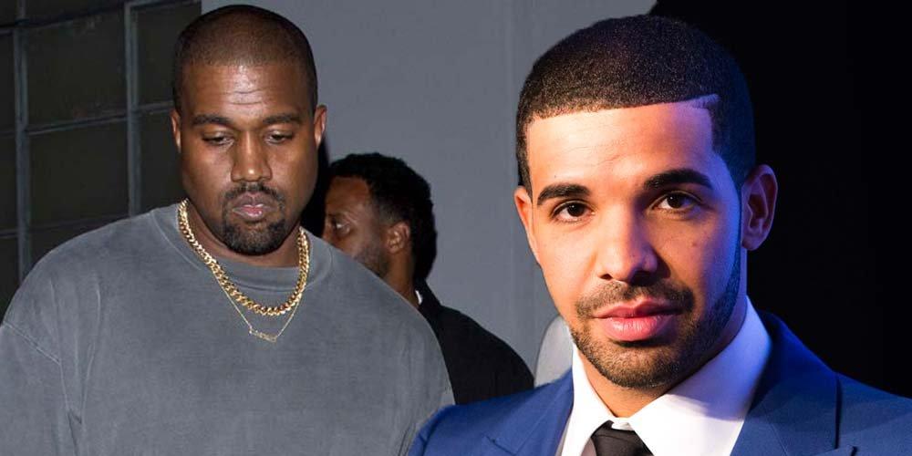 Kanye West ve Drake (sağda)... Drake daha önce Jennifer Lopez ve Rihanna ile birlikteydi...