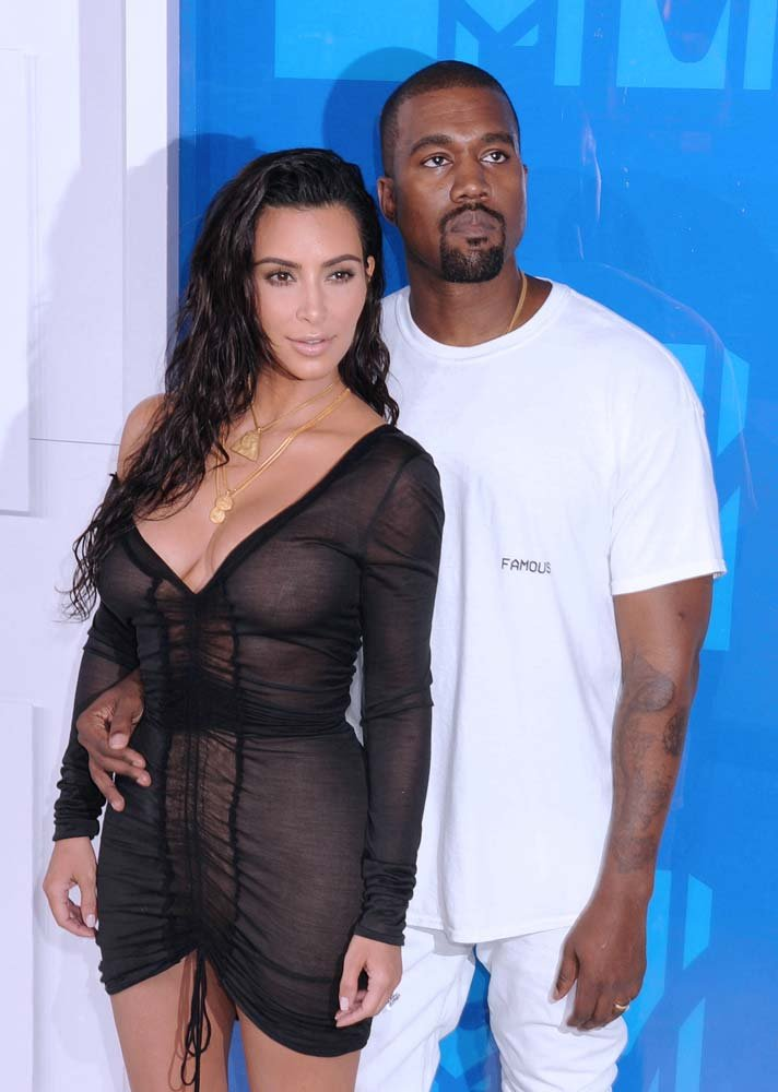 Kim Kardashian ve Kanye West.