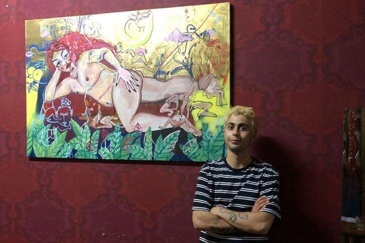 Ressam Taşçı, bu tablosuyla metroya binemediğini iddia etti.