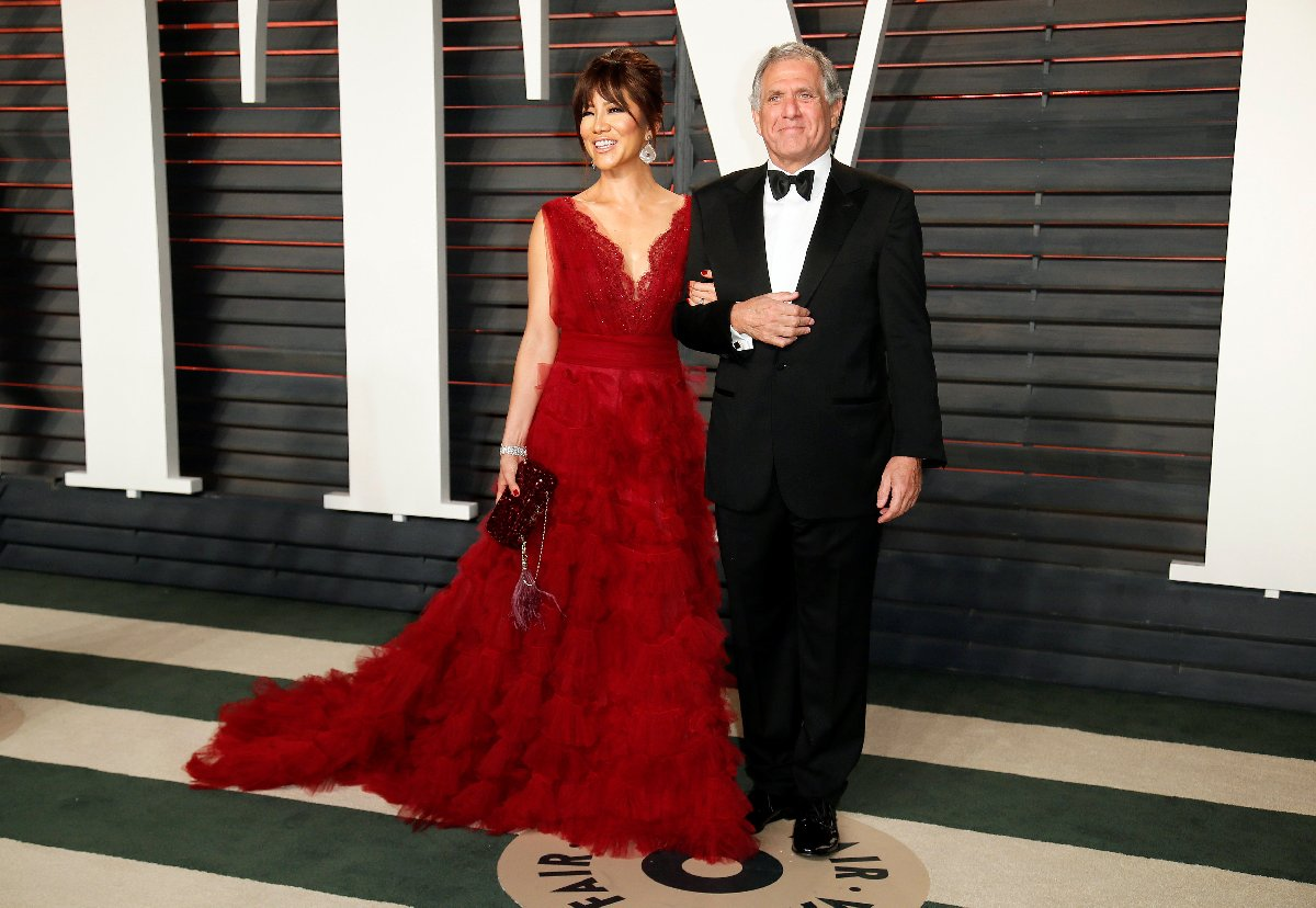 Moonves ve eşi Julie Chen.