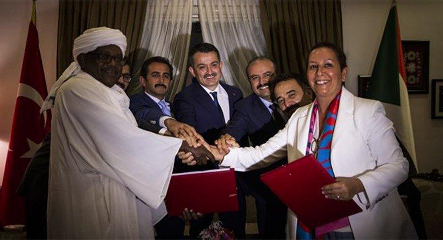 Türk heyeti Sudan Başkanı Ömer El-Beşir ile görüştü. Fotoğraf/Tarım Bakanlığı