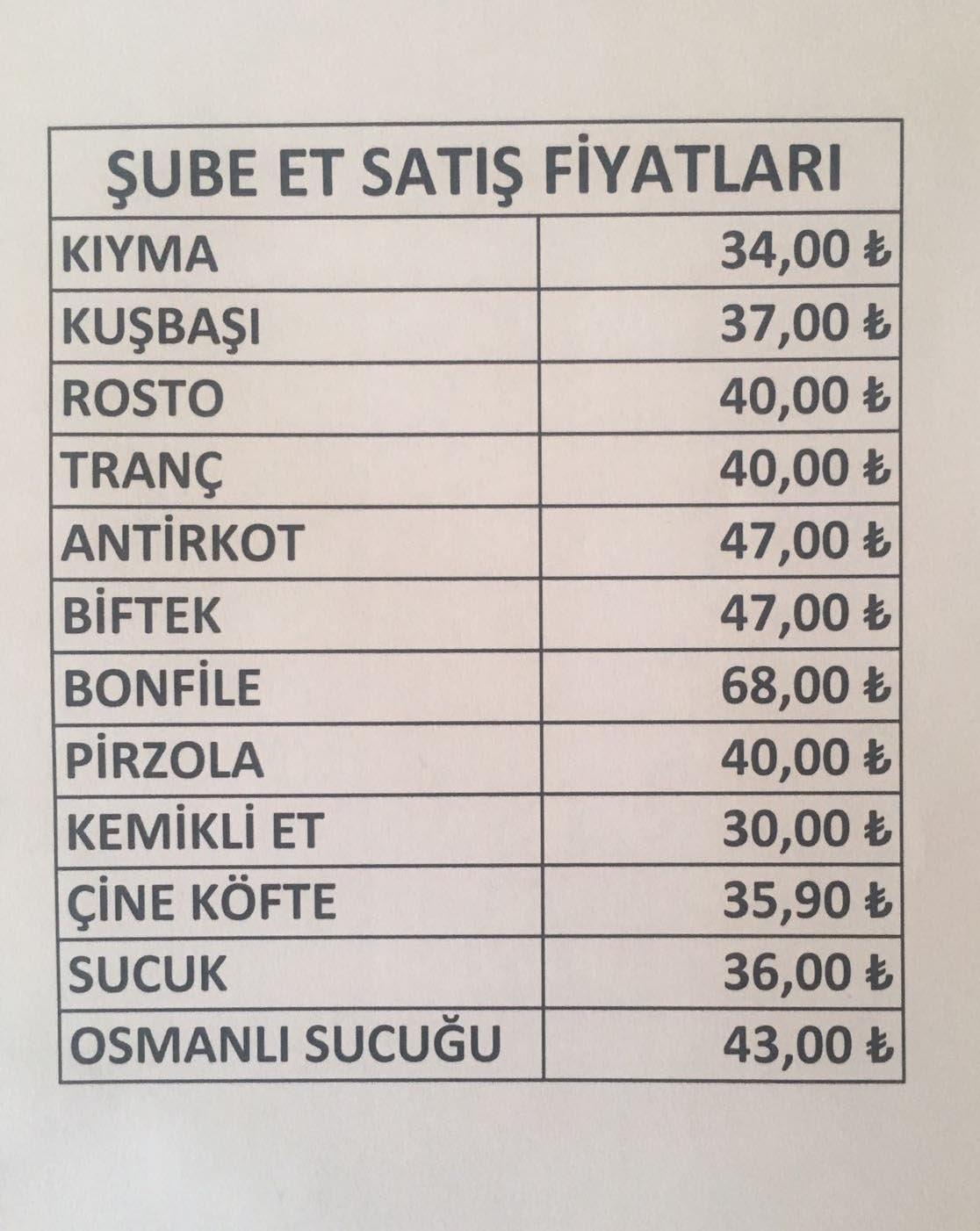 Bu listedeki ürünler Aydın'ın satış fiyatları... Bu fiyatları marketiniz ve kasabınızla karşılaştırın