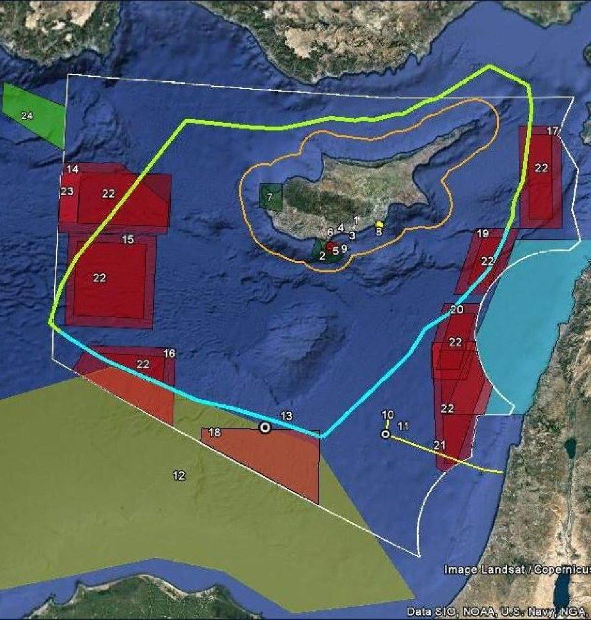 Haritada kırmızıyla gösterilen noktaların kapatıldığı ifade edildi.