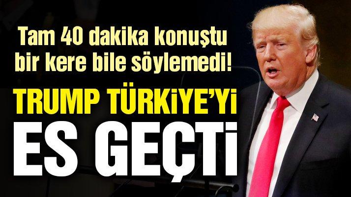 ABD Başkanı Trump BM konuşmasında Türkiye'den bahsetmedi