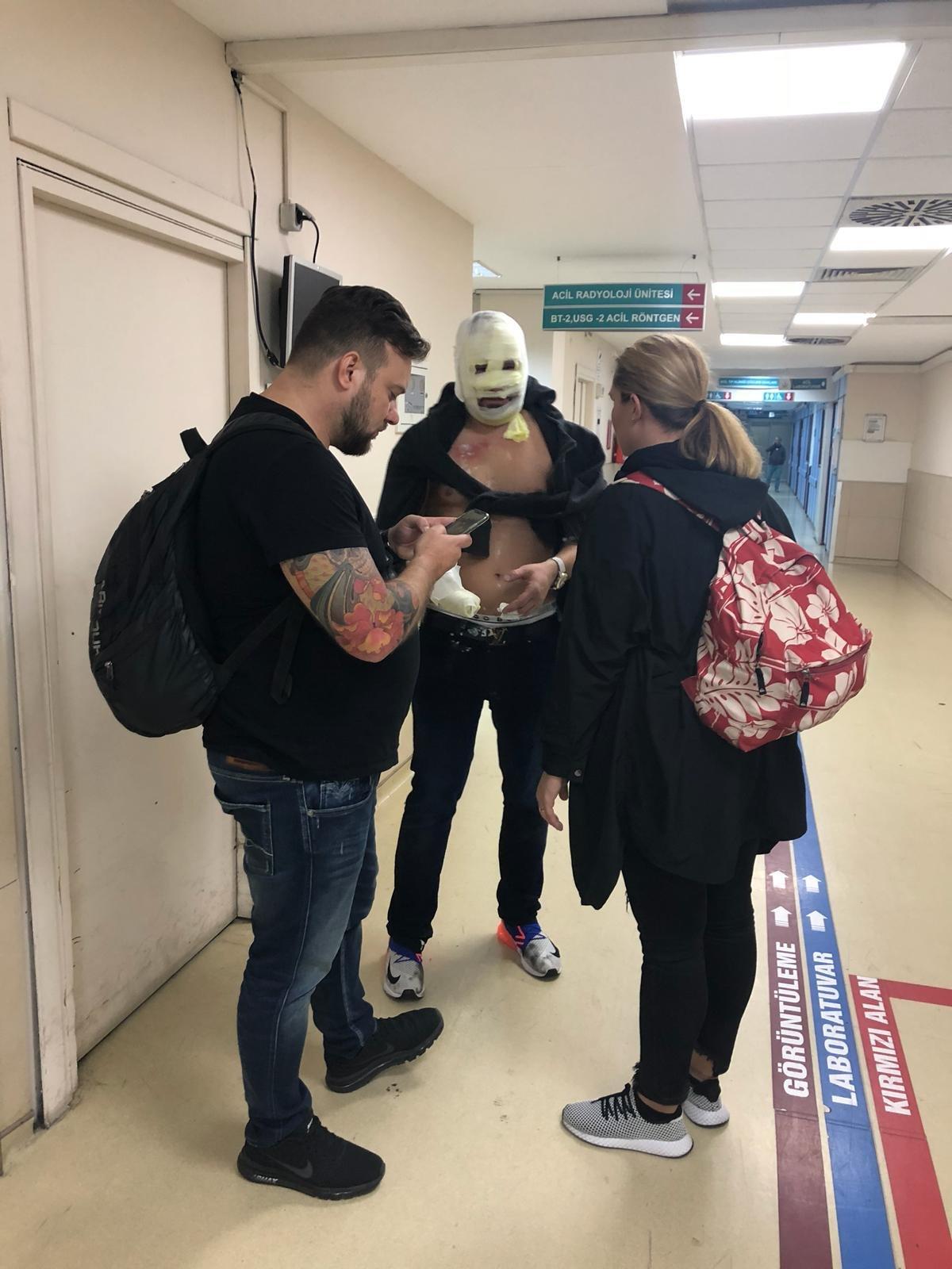 FOTO:DHA Olayda 4 turist yaralanmıştı.