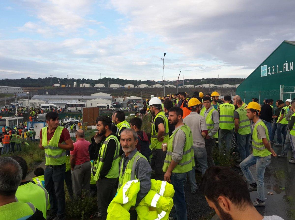 FOTO:İnşaat İşçileri Sendikası - İşçiler dün eylem başlatmıştı.