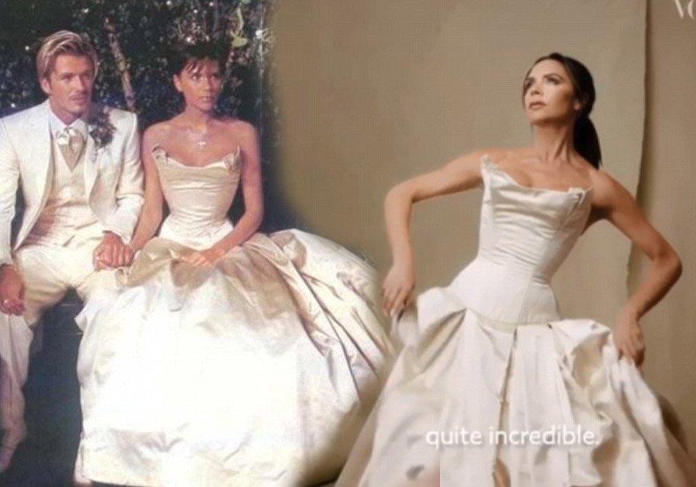 Victoria, 1999'daki gelinliğinin aynısını yeniden tasarladı...