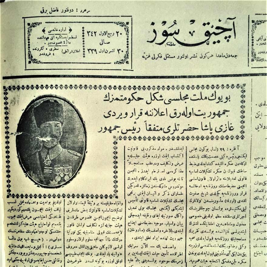 29 Ekim 1923 Pazartesi: Cumhuriyetin İlanı ile ilgili görsel sonucu