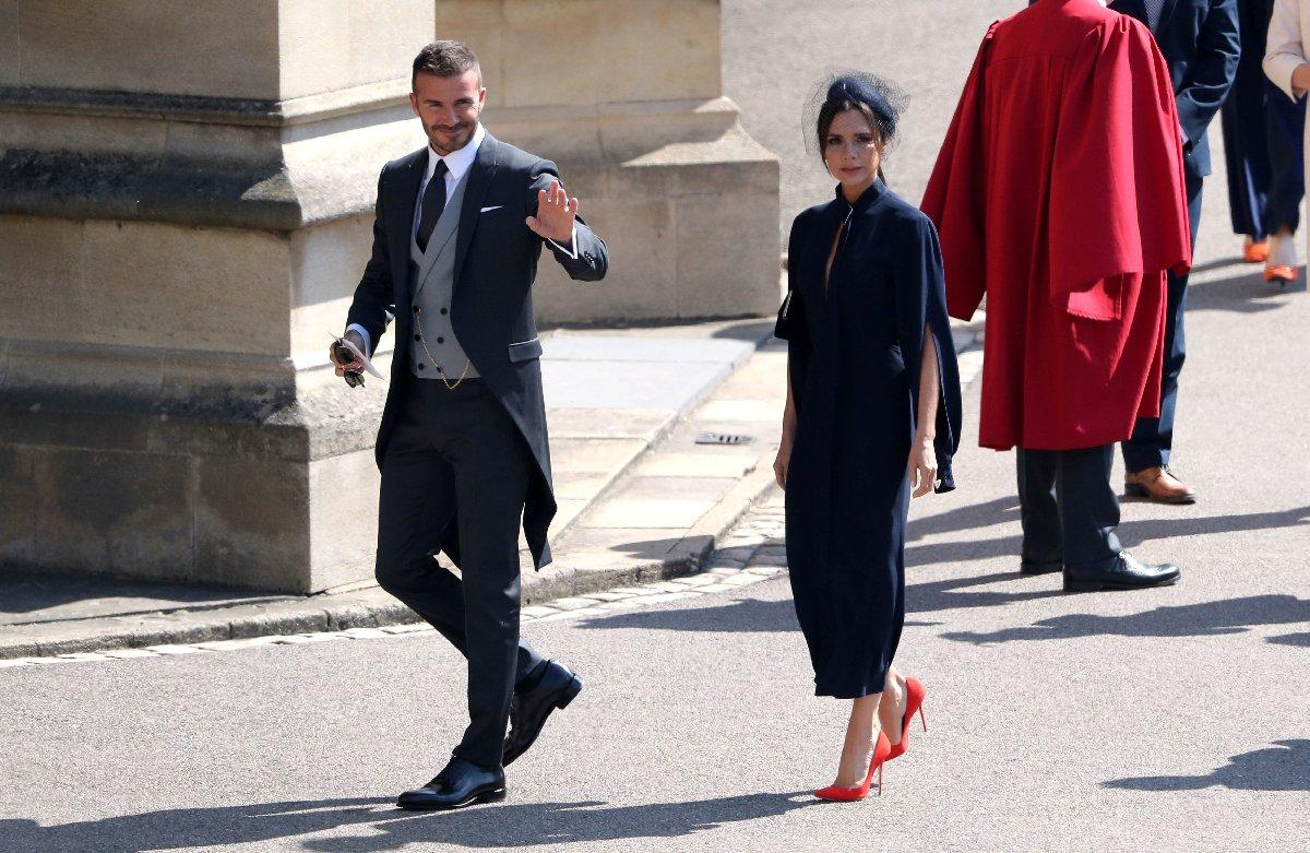 Davetliler arasında Victoria ve David Beckham da vardı.