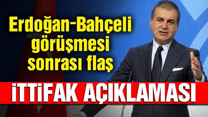 AKP'li Çelik'ten flaş yerel seçim ittifakı