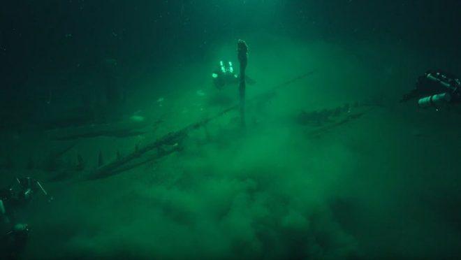Gemi o derinlikteki oksijen seviyesinin az olmasından dolayı çok iyi korunmuş.